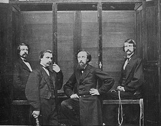 L to R - Ira Davenport, William Fay, Robert Cooper, William Davenport